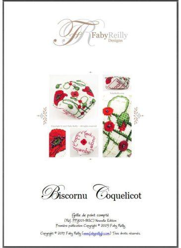 Biscornu Coquelicot - Faby Reilly Designs