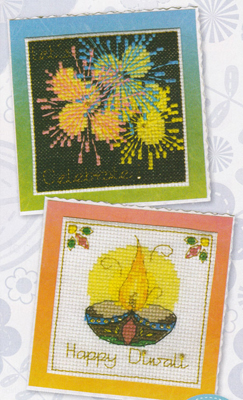 Cartes de Diwali pour CrossStitch Crazy