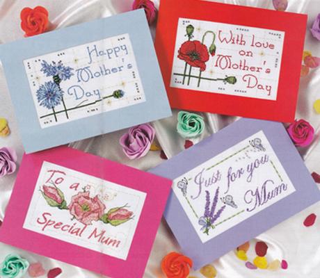 Cartes de Fêtes des Mères pour CrossStitch Card Shop