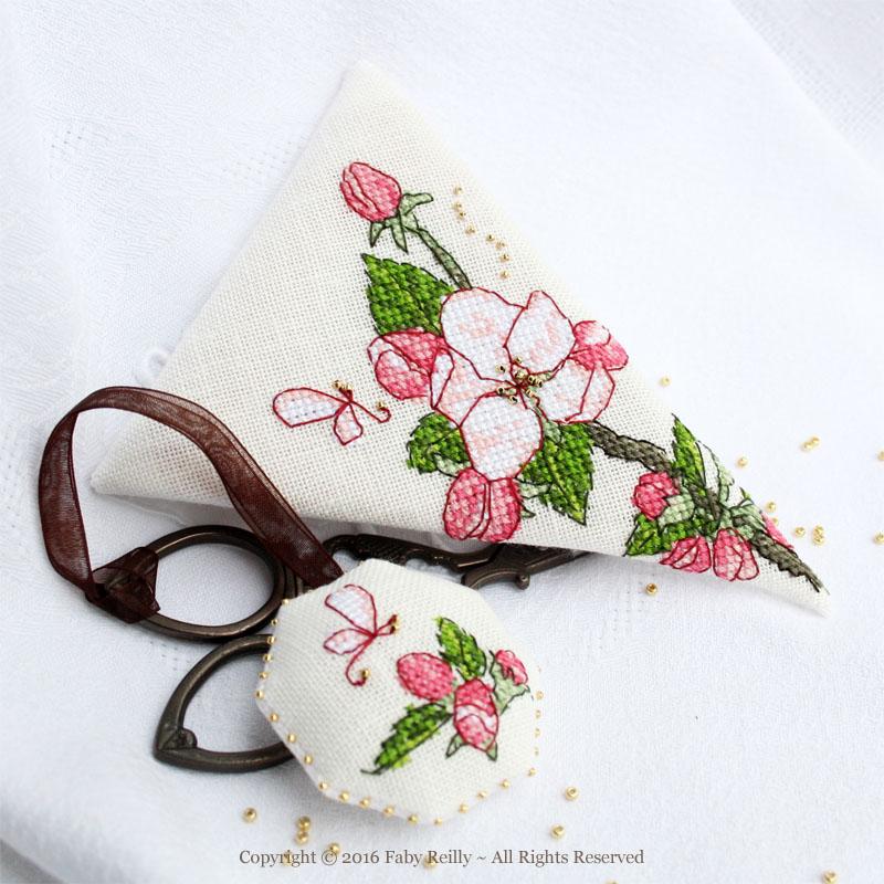 Etui à ciseaux Fleur de Pommier
