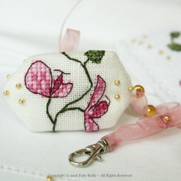 Marque-page Orchidée Prune