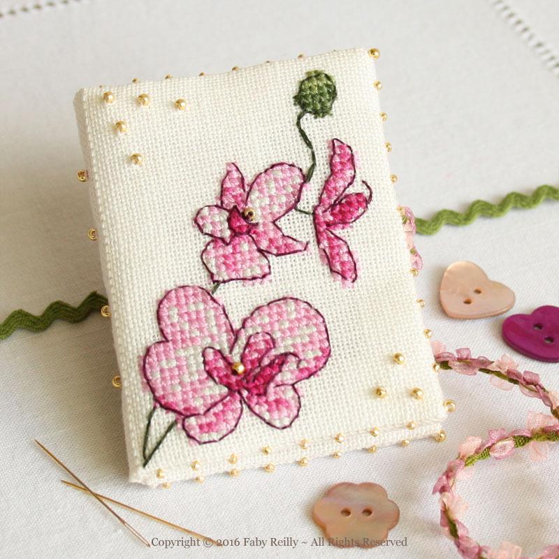 Livret à aiguilles Orchidée Prune