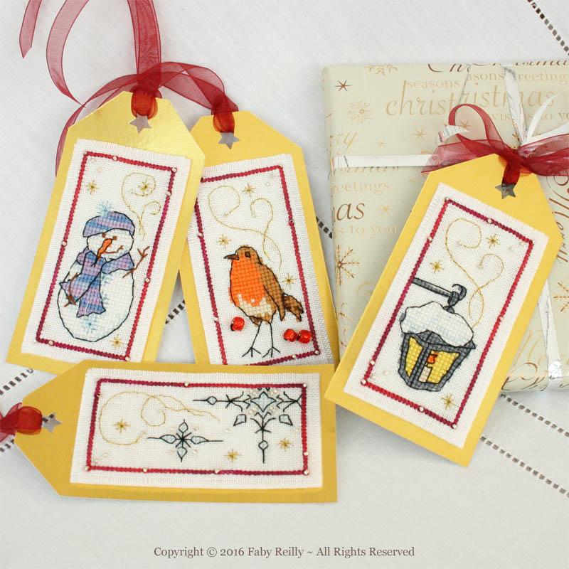 Etiquettes de Noël (série neige et givre)