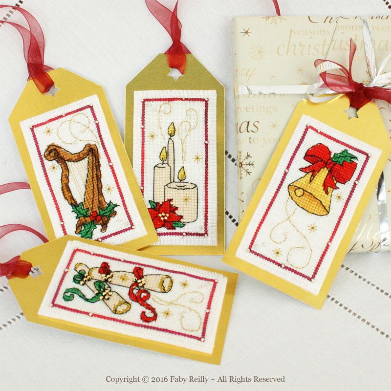 Etiquettes de Noël (série musique et lumière)