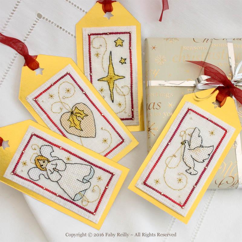 Etiquettes de Noël (série blanche)