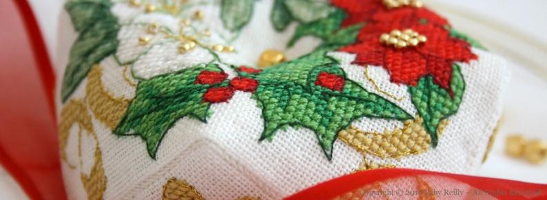 Biscornu de Noël (version couronne)