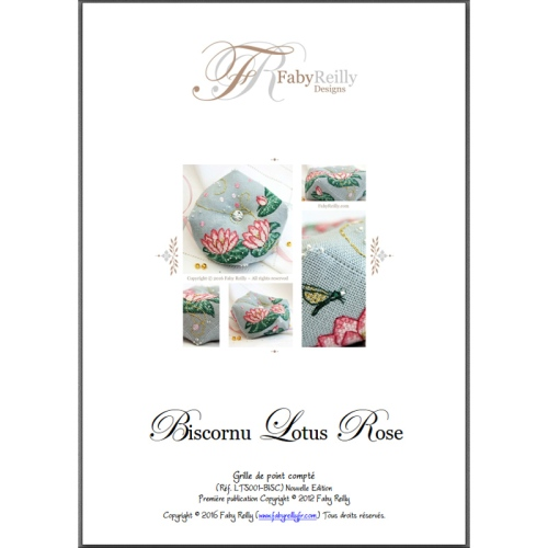 Biscornu Lotus Rose