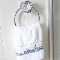 Biscornu Haute Mer en porte serviette