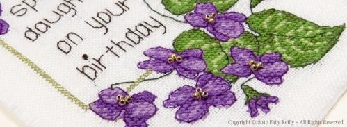 Carte Violette - Faby Reilly Designs