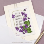 Carte Violette - Faby Reilly Designs
